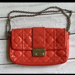AUTHENTIC DIOR PINK LEATHER CLATCH